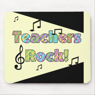 Teachers Rock Tshirts and Gifts Mouse Pad