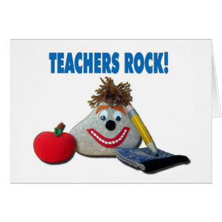 Teachers Rock! White Note Card
