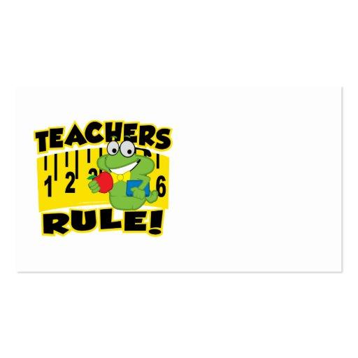 Teachers Rule! Business Card Template