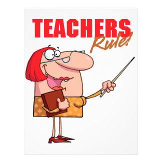 teachers rule female teacher cartoon 21.5 cm x 28 cm flyer