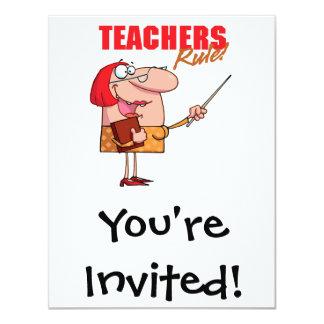teachers rule female teacher cartoon card