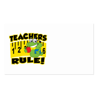 Teachers Rule! Pack Of Standard Business Cards