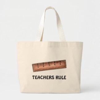 Teachers Rule Teaching Wooden Ruler Teacher Tote Jumbo Tote Bag