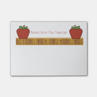 Teacher's Ruler Post-It Note Pad