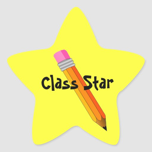 Teacher's Star with Pencil Award Stickers