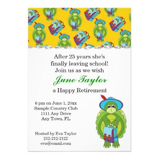 Teachers & Turtles Retirement Party Invitation