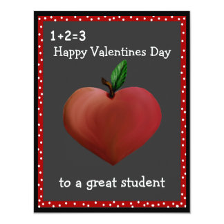 "Teacher's Valentine Cards 4.25"" X 5.5"" Invitation Card"