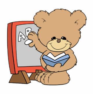 teaching ABCs cute teacher teddy bear design Standing Photo Sculpture