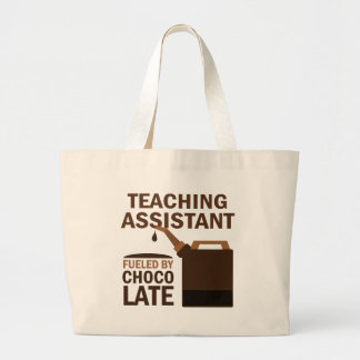 Teaching Assistant (Funny) Chocolate Large Tote Bag