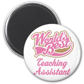Teaching Assistant Gift 6 Cm Round Magnet