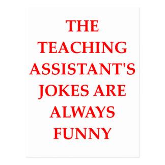 teaching assistent postcard