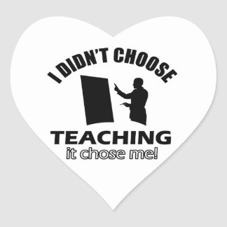 teaching Designs Heart Stickers