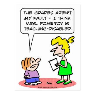 teaching disabled grades school postcards