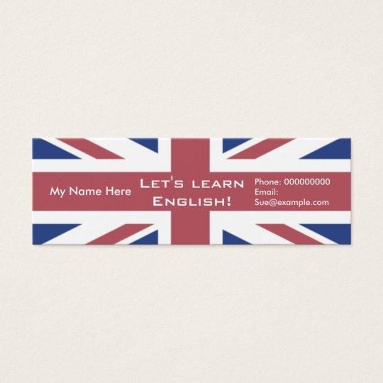 Teaching English Language -- Advertising Cards
