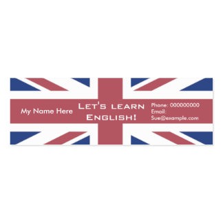 Teaching English Language -- Advertising Cards Pack Of Skinny Business Cards