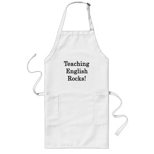 Teaching English Rocks Long Apron