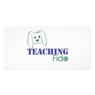 Teaching Fido Logo Wear Customized Photo Card