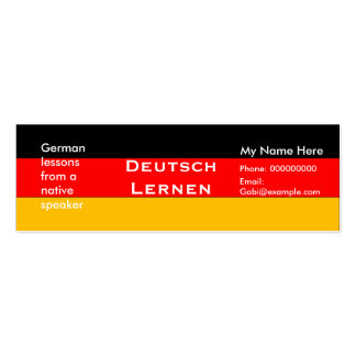 german language business cards german language business card designs. Black Bedroom Furniture Sets. Home Design Ideas