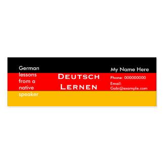 Teaching German Language -- Advertising Cards Pack Of Skinny Business Cards