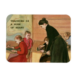 Teaching is a Work of Heart. Fine Art Gift Magnets