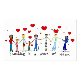 Teaching is a Work of Heart Info Cards Business Card