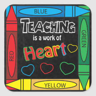Teaching is a work of heART Square Sticker