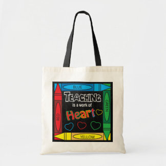 Teaching is a work of heART Budget Tote Bag