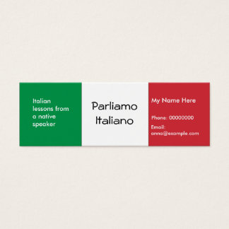 Teaching Italian Language -- Advertising Cards