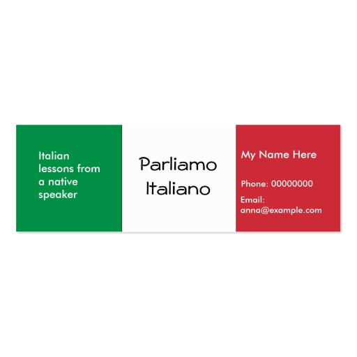 Custom Card Template advertising cards templates : Teaching Italian Language -- Advertising Cards Business Card Templates