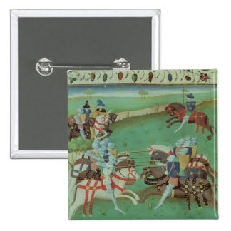 Teaching Knights to Joust 15 Cm Square Badge