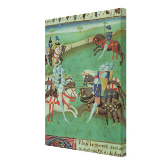 Teaching Knights to Joust Canvas Print