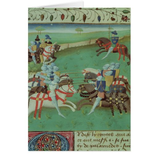 Teaching Knights to Joust Greeting Cards