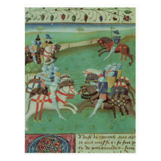 Teaching Knights to Joust Postcard