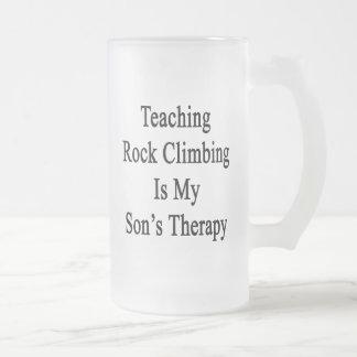 Teaching Rock Climbing Is My Son s Therapy Coffee Mug