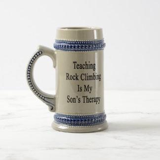 Teaching Rock Climbing Is My Son s Therapy Mug