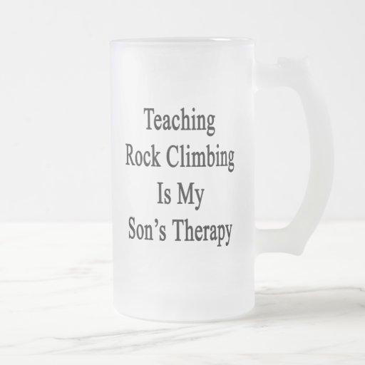 Teaching Rock Climbing Is My Son's Therapy Coffee Mug