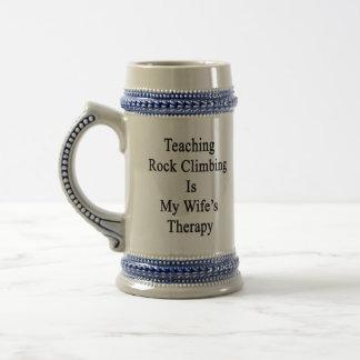 Teaching Rock Climbing Is My Wife s Therapy Mugs