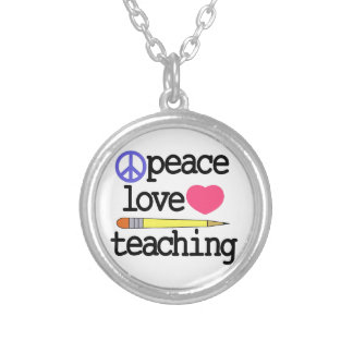 Teaching Round Pendant Necklace