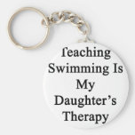 Teaching Swimming Is My Daughter's Therapy Keychains
