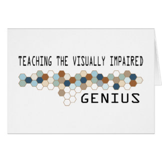 Teaching the Visually Impaired Genius Card