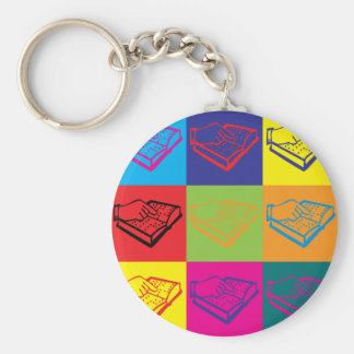 Teaching the Visually Impaired Pop Art Basic Round Button Key Ring