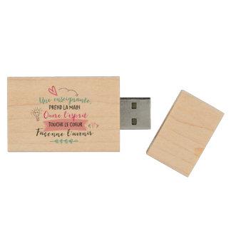 Teaching USB key Wood USB 2.0 Flash Drive