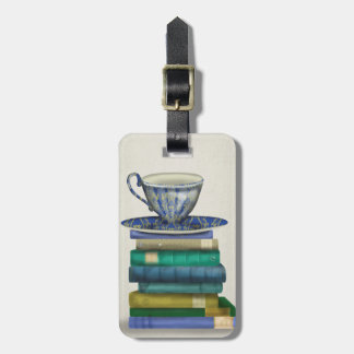 Teacup and Books 2 Luggage Tag