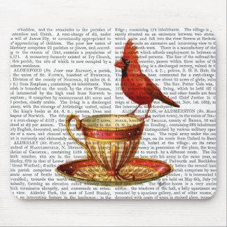 Teacup And Red Cardinal Mouse Mat