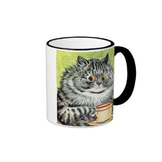 Teacup Cat by Louis Wain Ringer Mug