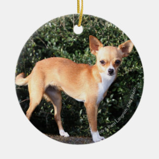 Teacup Chihuahua Puppy Christmas Ornament