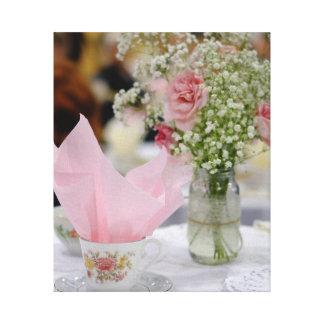 Teacup Flower Canvas Print