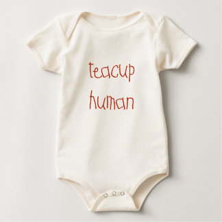 Teacup Human (red) Baby Bodysuit