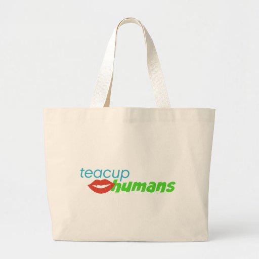 Teacup Humans Tote Bags