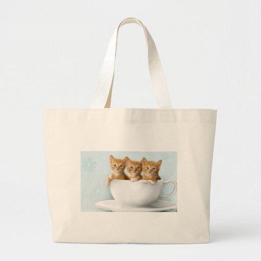 Teacup Kittens Tote Bag